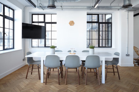 Picture of a contemporary warehouse style conference room