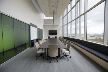 Picture of a conference room table